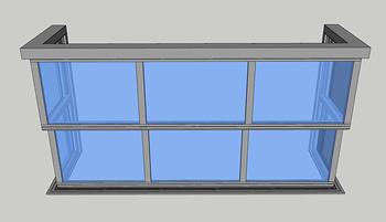 三面型电动提升阳台LHYT03